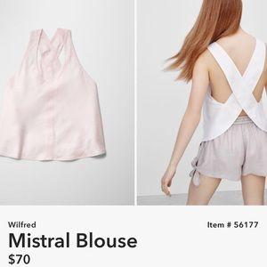 ARITZIA | Wilfred Mistral white Blouse